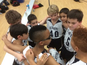 Edge 11u boys show some team unity